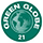 Label Green Globe 21