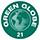 Label Green Globe 21