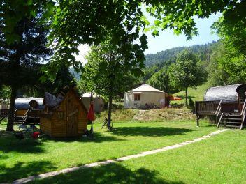 Chalet sur pilotis Camping Belle Hutte La Bresse