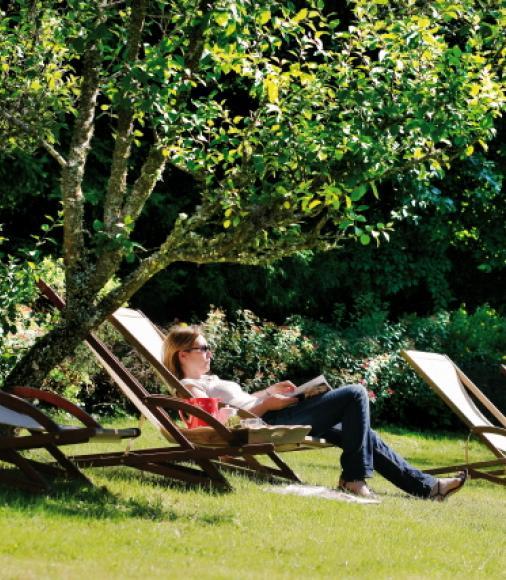 Pause détente aux Jardins de Sophie