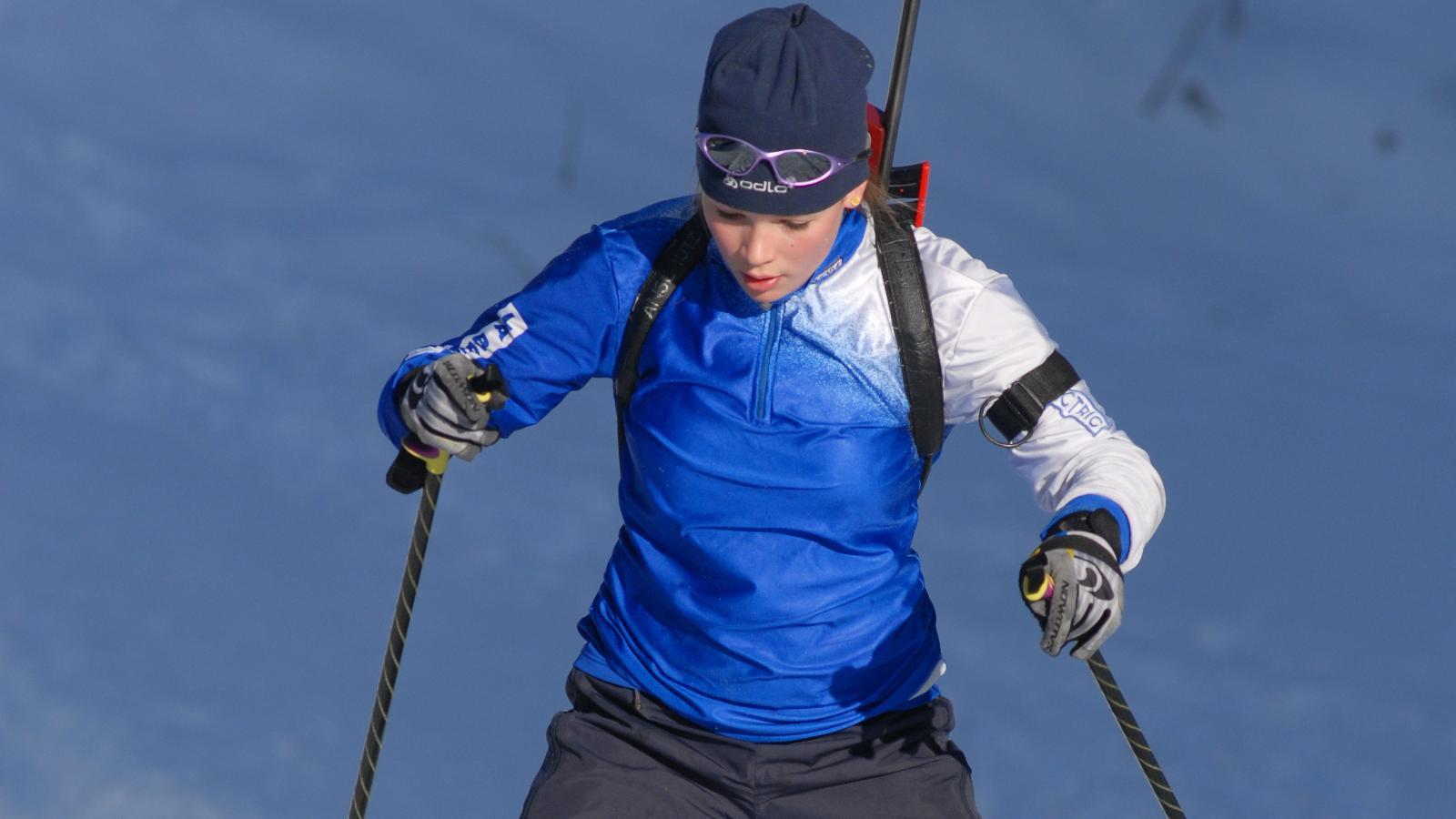 Sportif biathlon