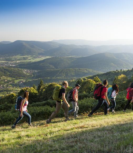 Groupe en randonnées