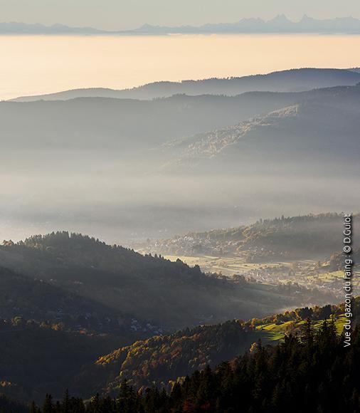 Vue du gazon du Faing, Vosges ©Damien Guiot